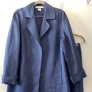 Ellen tracy 2pc linen pants set